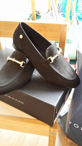 Tommy Hilfiger Zapatos formales sin cordones negro Cuero