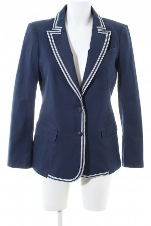 Tommy Hilfiger Long-Blazer blau-weiß Business-Look