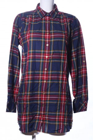 Tommy Hilfiger Long-Bluse Karomuster Casual-Look