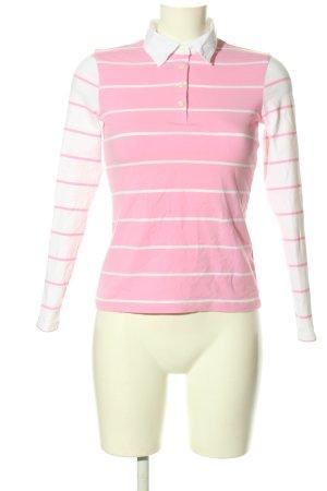 Tommy Hilfiger Longsleeve weiß-pink Streifenmuster Casual-Look