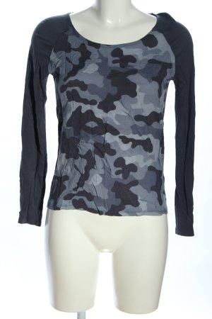 Tommy Hilfiger Longsleeve hellgrau-blau Camouflagemuster Casual-Look