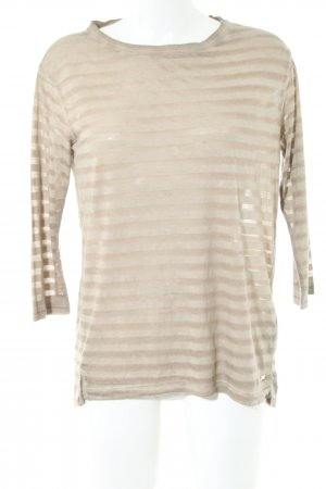 Tommy Hilfiger Longsleeve goldfarben Streifenmuster Casual-Look