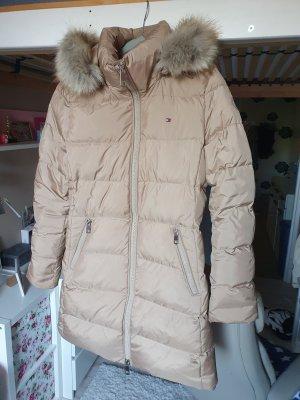 Tommy Hilfiger Down Coat camel-beige mixture fibre