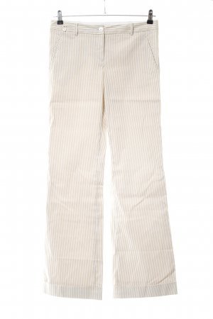 Tommy Hilfiger Marlene Trousers cream-natural white striped pattern casual look