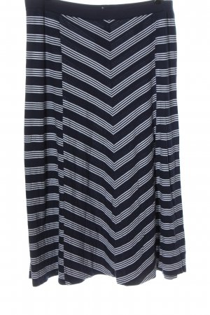 Tommy Hilfiger Maxi Skirt blue-white striped pattern casual look
