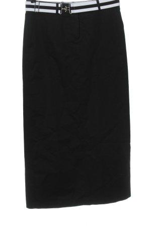 Tommy Hilfiger Spódnica midi czarny W stylu biznesowym