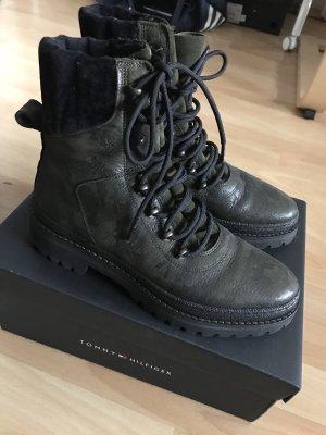 Tommy Hilfiger Military Boots 39 Neu Leder
