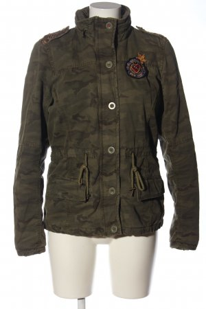 Tommy Hilfiger Militair jack khaki camouflageprint casual uitstraling