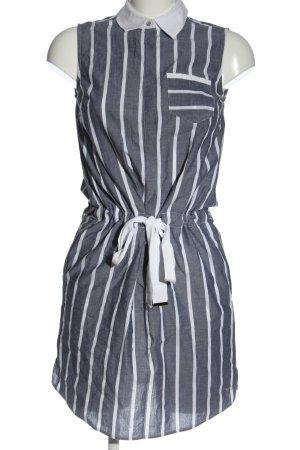 Tommy Hilfiger Mini Abito grigio chiaro-bianco motivo a righe stile casual
