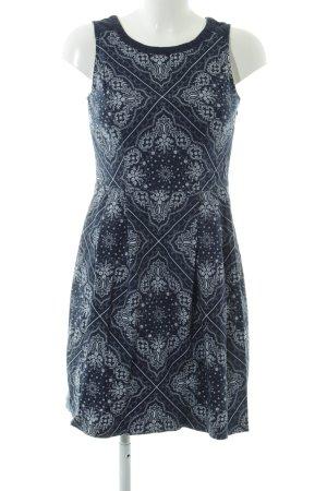 Tommy Hilfiger Minikleid schwarz-weiß abstraktes Muster Casual-Look