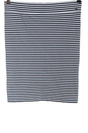 Tommy Hilfiger Minirock blau-weiß Streifenmuster Casual-Look