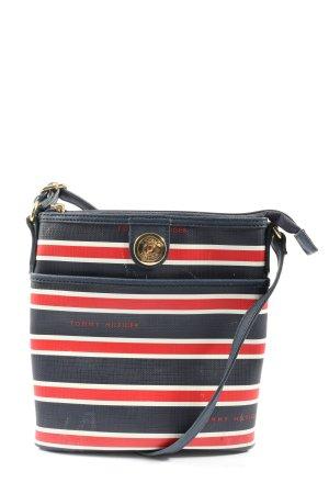 Tommy Hilfiger Mini sac bleu-rouge motif rayé style décontracté