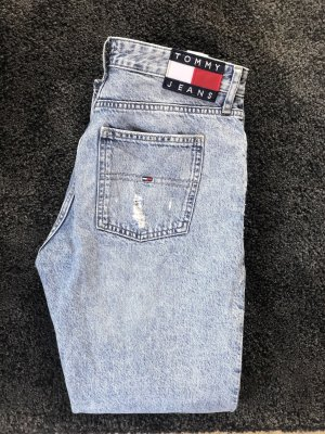 Tommy Hilfiger Mom Jeans, Ripped, Cropped