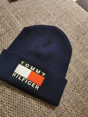 Tommy Hilfiger Sombrero de tela azul oscuro