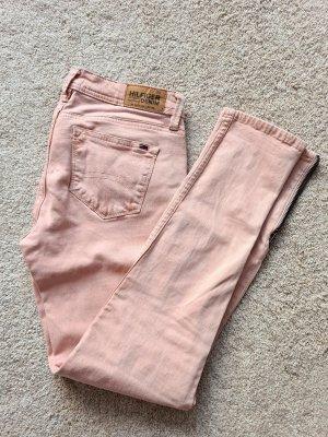 Tommy Hilfiger Natalie Zip Jeans Hose Röhrenjeans in altrosa rosé 27 34