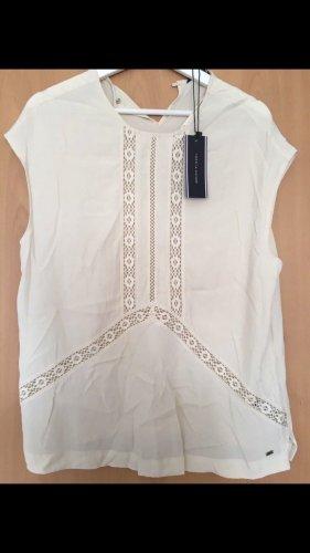 Tommy Hilfiger neu mit Etikett Shirt Top weiß beige Oberteil Bluse Tunika