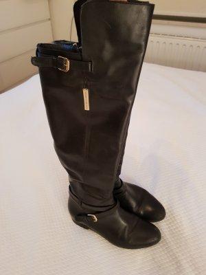 Tommy Hilfiger Kniehoge laarzen zwart-goud