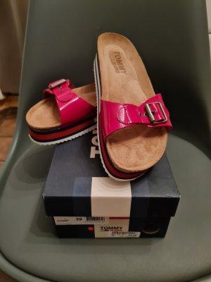 Tommy Hilfiger Heel Pantolettes brick red