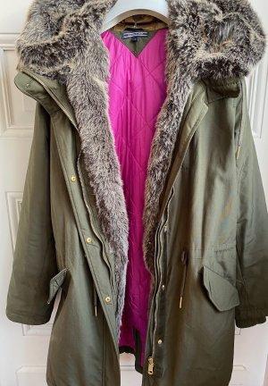 Tommy Hilfiger Between-Seasons-Coat khaki-pink