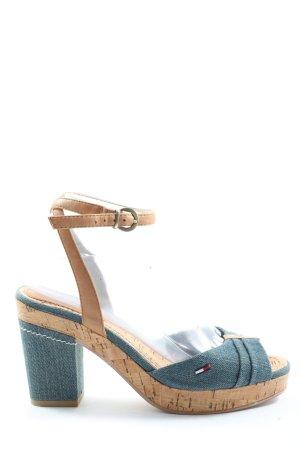 Tommy Hilfiger Peep Toe Pumps blue-brown elegant
