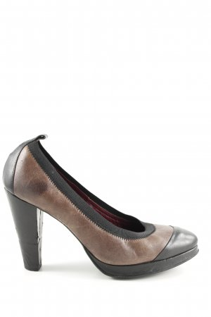 Tommy Hilfiger Plateau-Pumps schwarz-braun Business-Look