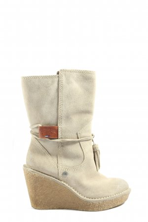 Tommy Hilfiger Platform Boots natural white-brown themed print casual look