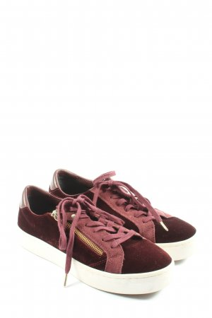 Tommy Hilfiger Plateausneaker rot-pink Motivdruck Casual-Look