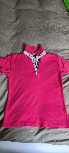 Tommy Hilfiger Camiseta tipo polo rojo frambuesa