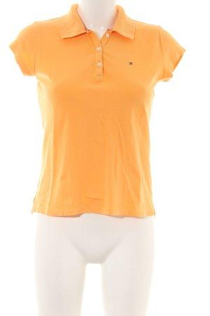 Tommy Hilfiger Polo arancione chiaro stile casual