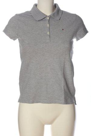 Tommy Hilfiger Polo-Shirt hellgrau meliert Casual-Look