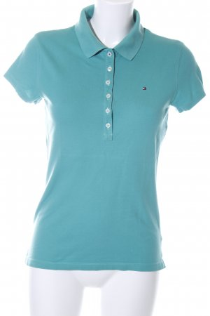Tommy Hilfiger Polo turquoise style décontracté