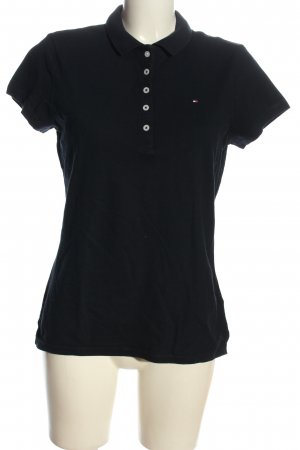 Tommy Hilfiger Camiseta tipo polo negro look casual