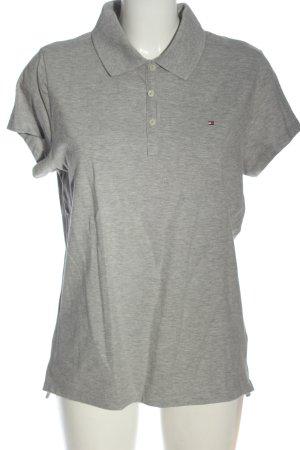 Tommy Hilfiger Koszulka polo jasnoszary Melanżowy W stylu casual