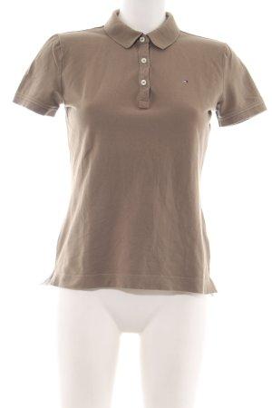 Tommy Hilfiger Polo marrone stile casual
