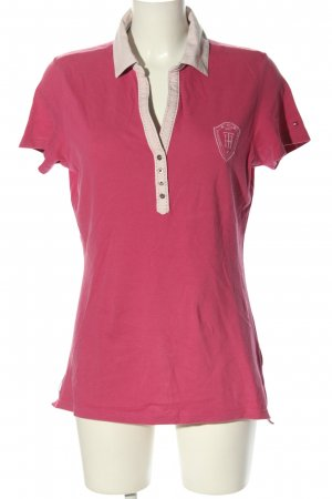 Tommy Hilfiger Polo-Shirt pink Motivdruck Casual-Look