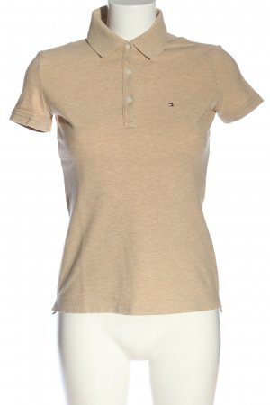 Tommy Hilfiger Polo-Shirt nude-creme meliert Casual-Look
