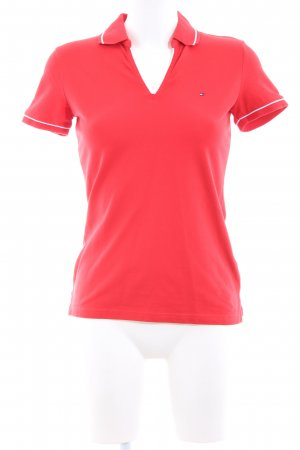 Tommy Hilfiger Polo Shirt red-white athletic style