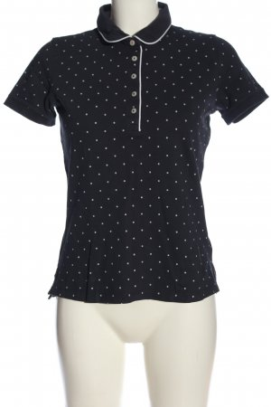 Tommy Hilfiger Polo-Shirt schwarz-weiß Punktemuster Casual-Look