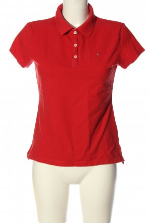 Tommy Hilfiger Camiseta tipo polo rojo look casual