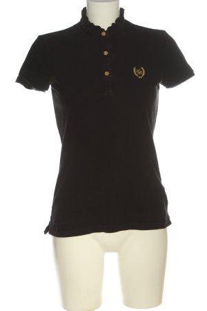 Tommy Hilfiger Polo-Shirt braun Schriftzug gestickt Casual-Look
