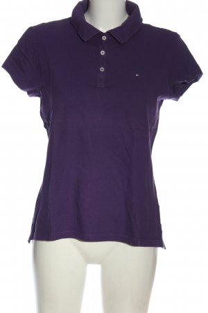 Tommy Hilfiger Polo-Shirt lila Elegant