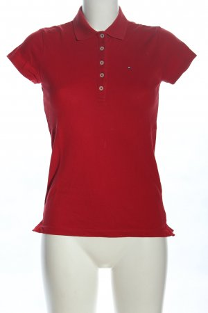 Tommy Hilfiger Camiseta tipo polo rojo letras bordadas look casual