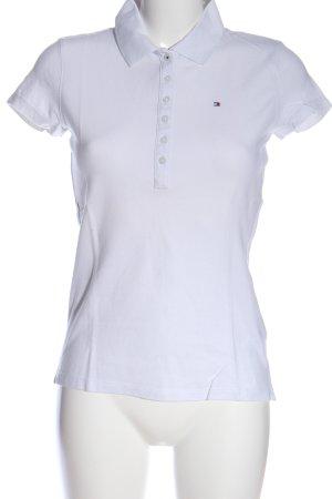 Tommy Hilfiger Polo-Shirt weiß Schriftzug gestickt Casual-Look