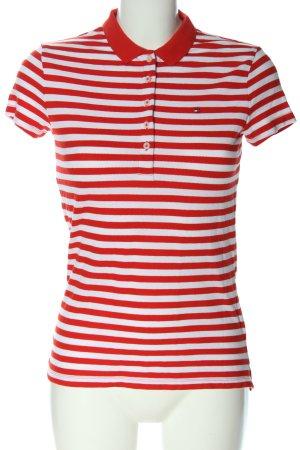 Tommy Hilfiger Koszulka polo biały-czerwony Na całej powierzchni