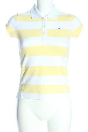 Tommy Hilfiger Koszulka polo biały-bladożółty Na całej powierzchni