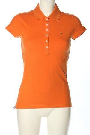 Tommy Hilfiger Polo orange clair lettrage brodé style décontracté