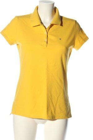 Tommy Hilfiger Polo-Shirt blassgelb Schriftzug gestickt Casual-Look