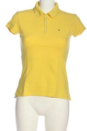 Tommy Hilfiger Camiseta tipo polo amarillo pálido look casual