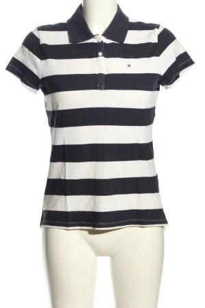 Tommy Hilfiger Polo-Shirt schwarz-weiß Streifenmuster Casual-Look
