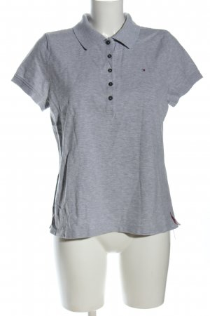 Tommy Hilfiger Polo-Shirt hellgrau meliert Casual-Look